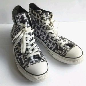 Converse US 12 Crossword Puzzle Lace-Up Hi Tops